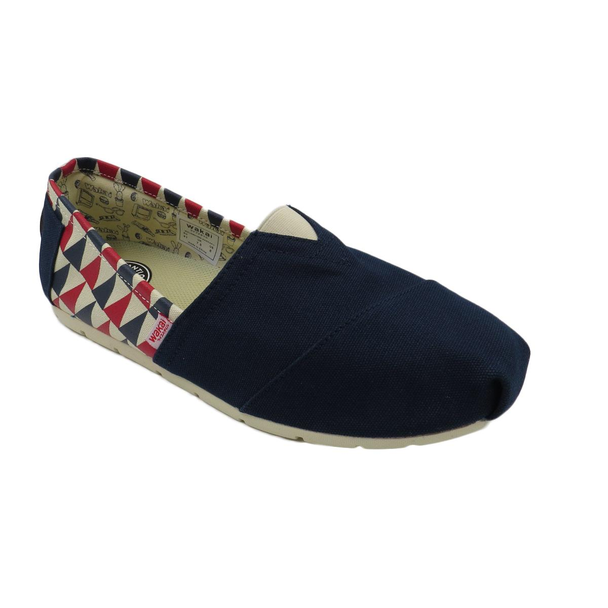 Price Wakai Sankaku Men S Slip On Shoes Navy Blue Wakai Original