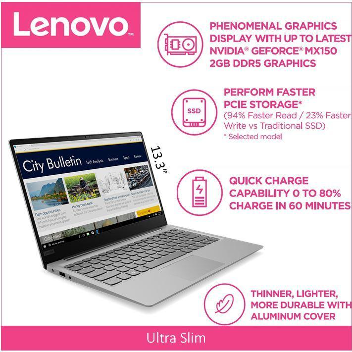 Lenovo IdeaPad 320S (Thin&Light)13.3 FHD  IPS MINERAL GREY 2 Year Local Warranty