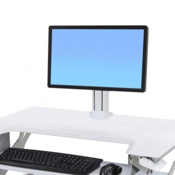 Ergotron WorkFit Single LD Monitor Kit (White)