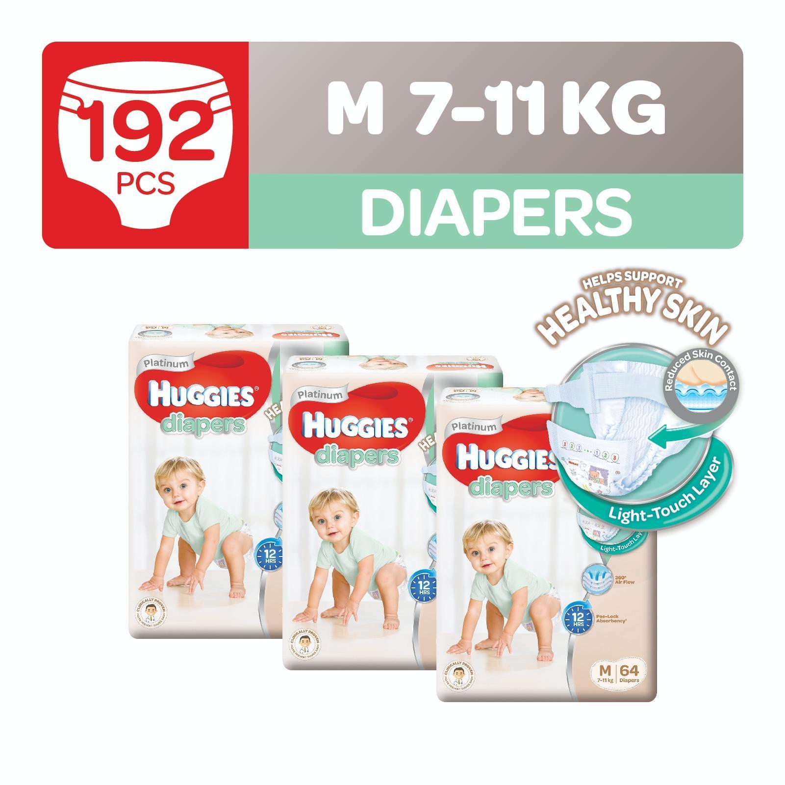 Retail Price Huggies Platinum Diapers M 64Pcs X 3 Packs