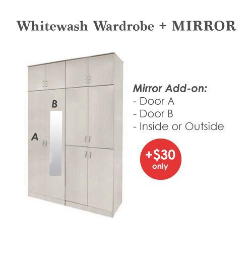 [A-STAR]  Mila 10 Door Wardrobe Cabinet in Whitewash !!