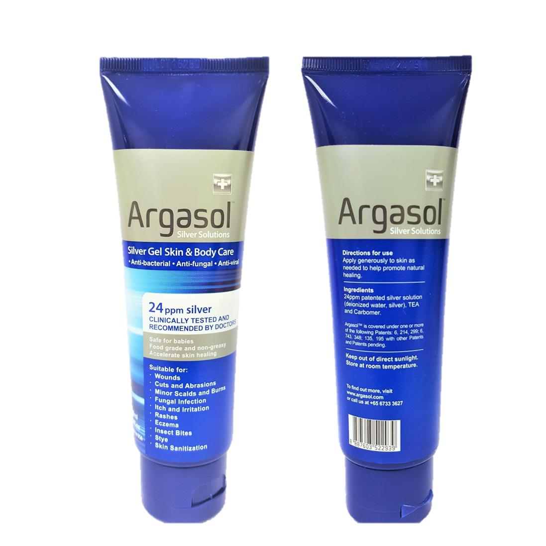 Buy Argasol Silver Body And Skin Gel 24Ppm 118Ml Others