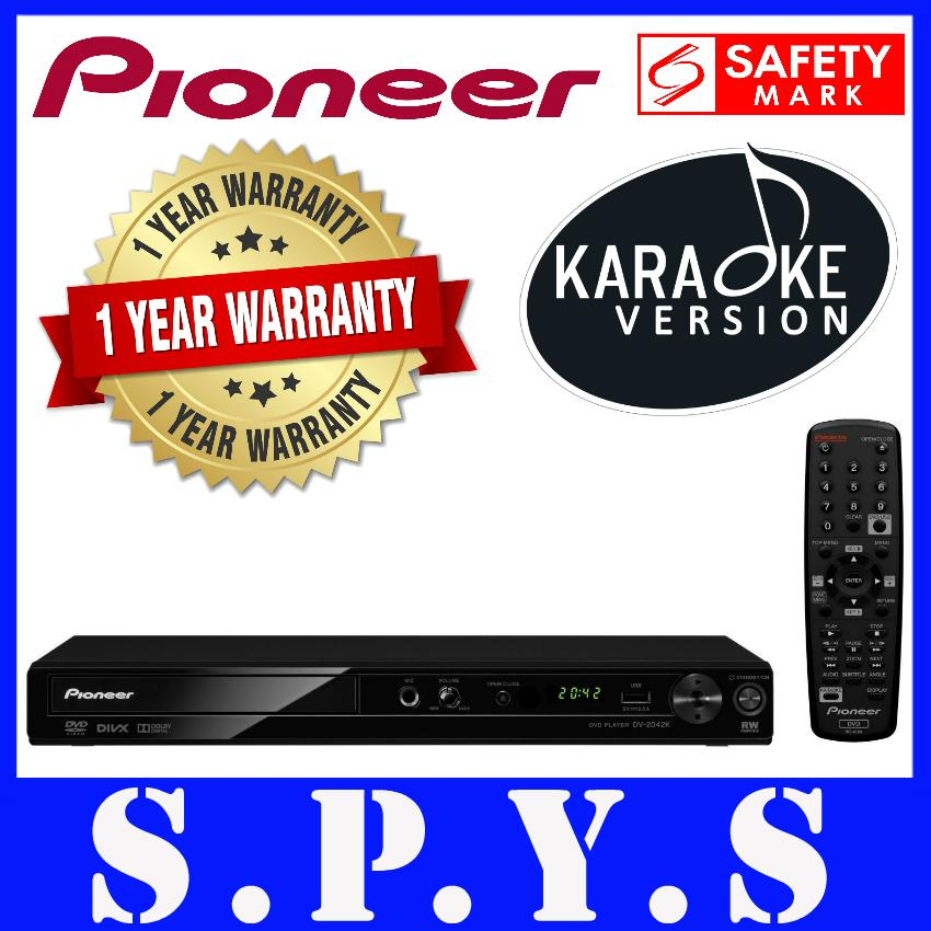 Pioneer DV2042K DVD Player  Plays Region 3 DVD  With Karaoke Function  USB  Input for music playback  Supports CD to USB Recording  Remote Control