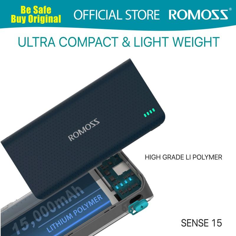 Review Romoss Sense 15 Premium Li Polymer Power Bank Romoss On Singapore