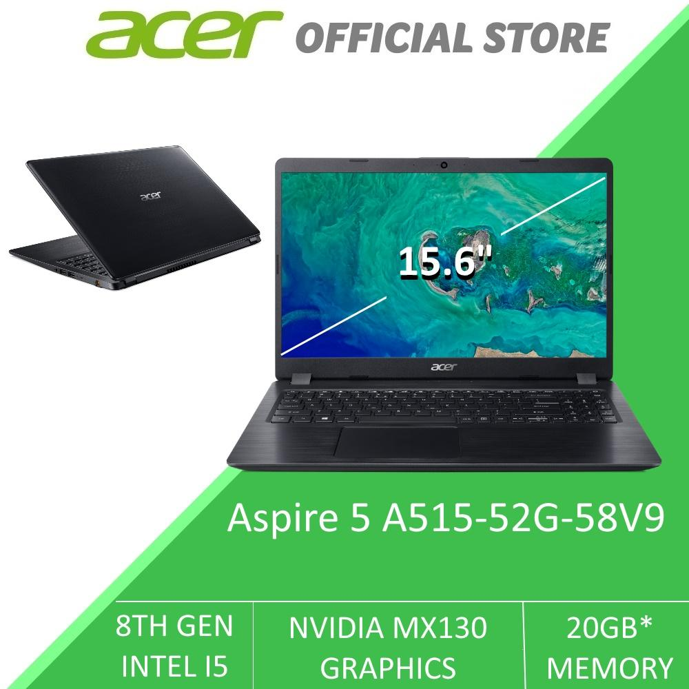 Acer Aspire 5 A515-52G-58V9 15.6-Inch Narrow Bezel INTEL i5 with NVIDIA Graphics Card and Intel Optane Memory Laptop