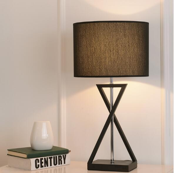 American Style Creative Bedroom Bedside Table Lamp Modern Simple Fashion Living room Study Personality Iron Table lamp 58x30cm