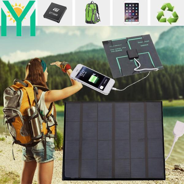 USB Solar Power Panel Battery Charger DIY 6V 3.6W Solar Panel Bank for Android M