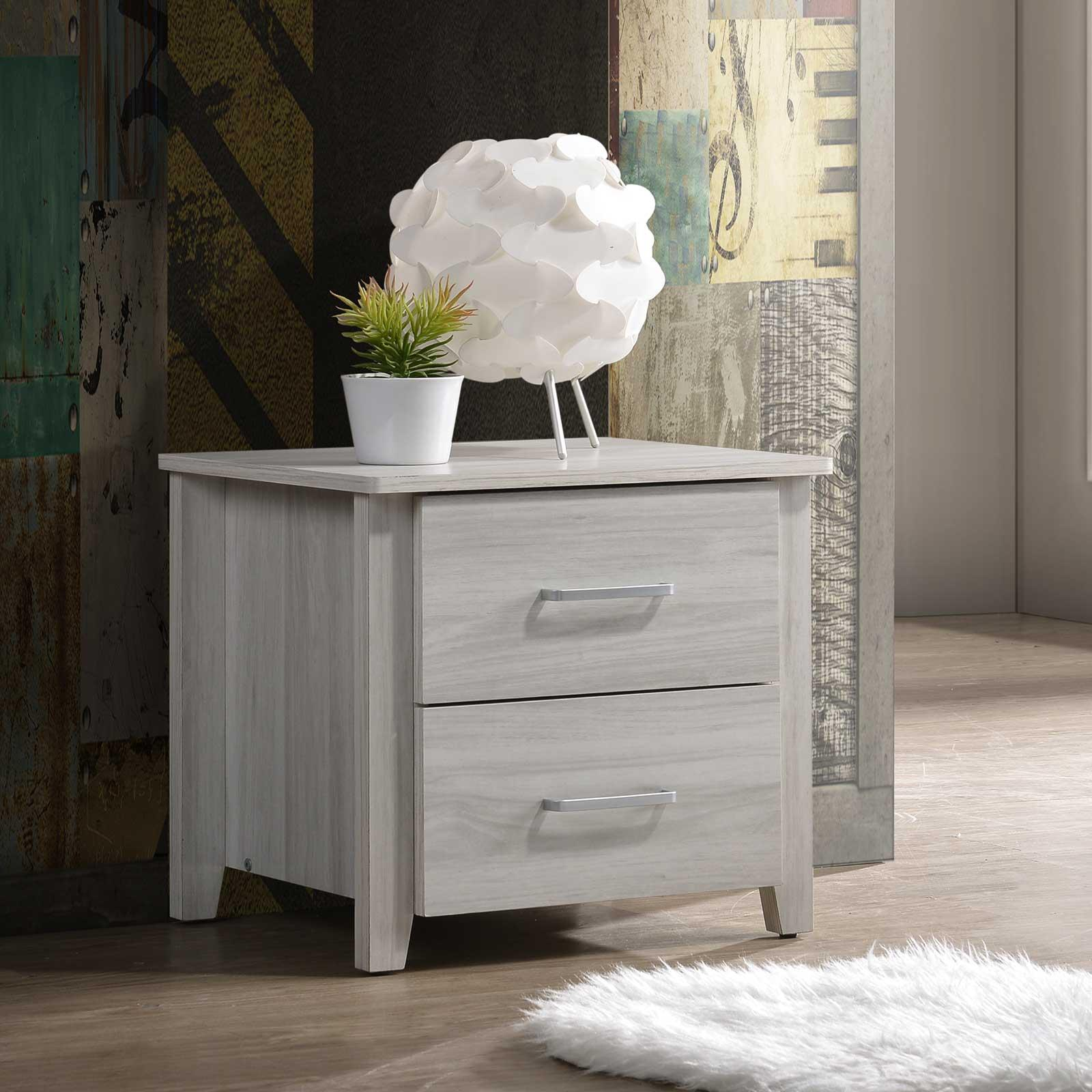 Scandinavian Bedside Table Night Stand Storage Drawers Bedroom Side ⭐E-LIVING Furniture