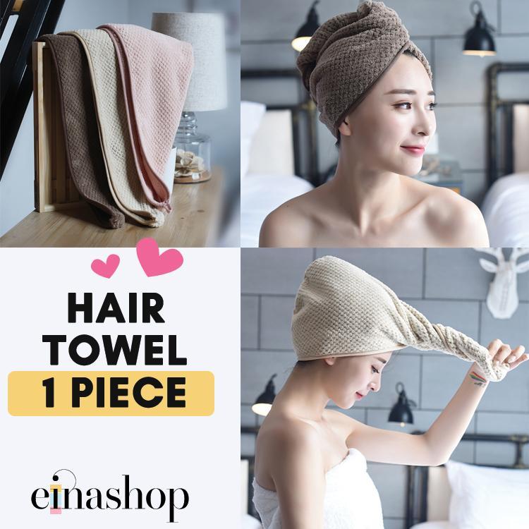 1 Piece Women Coral Fleece Hair Towel Premium Selection Einashop By Einashop.