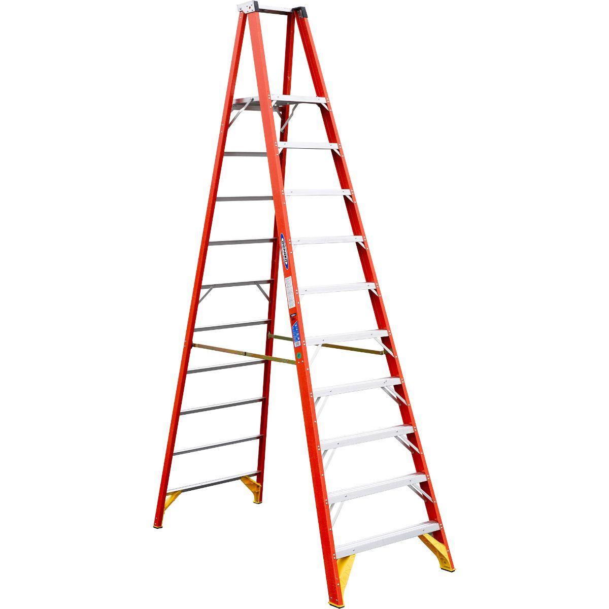 WERNER FG Platform Ladder 300LB P6210 10FT