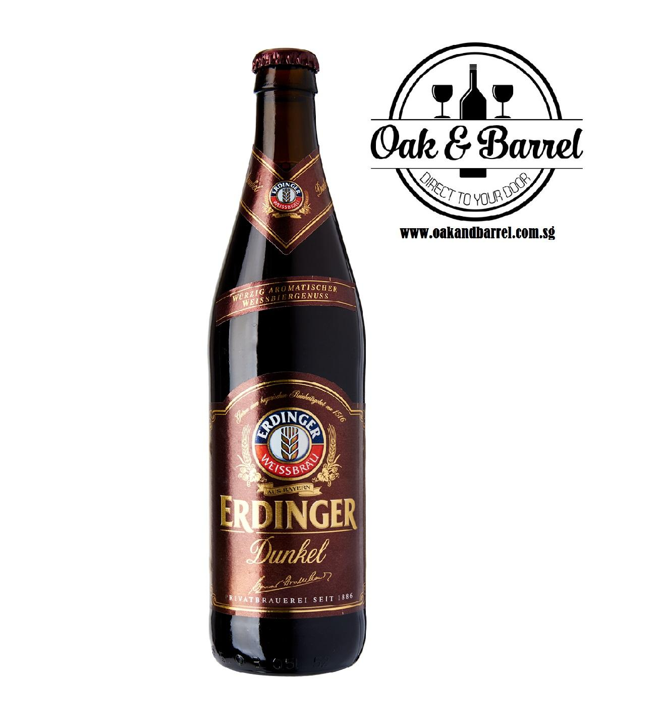 Erdinger Dark 500ml X 12 By Oakandbarrel.com.sg.