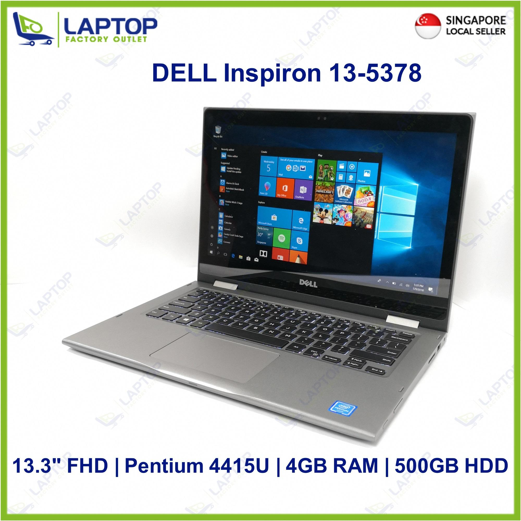 DELL Inspiron 13-5378 Touch Screen (4GB/500GB) @Original Warranty@ Premium Preowned [Refurbished]