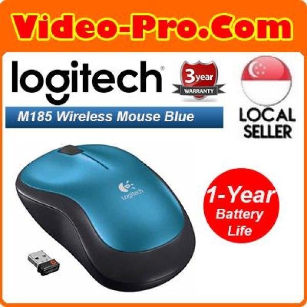 Logitech M185 Wireless Mouse w/Nano USB Receiver 3-Year Local Warranty