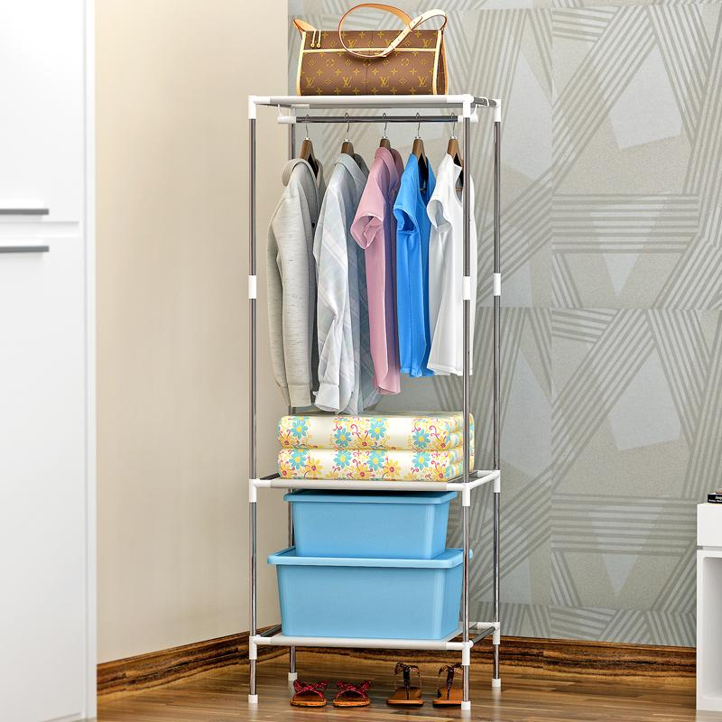 Shome nuo large floor-standing wrought iron rack clothes rack