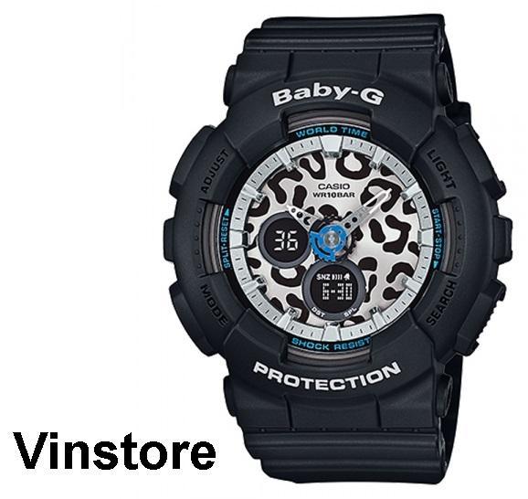 Casio Baby G Sport Unisex Watch black Strap leopard pattern Dial Watch BA-120LP-