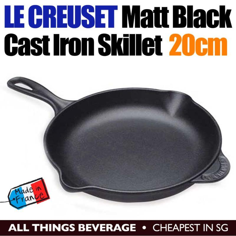 Le Creuset Cast Iron Round Skillet Pan 20cm Matt Black Singapore