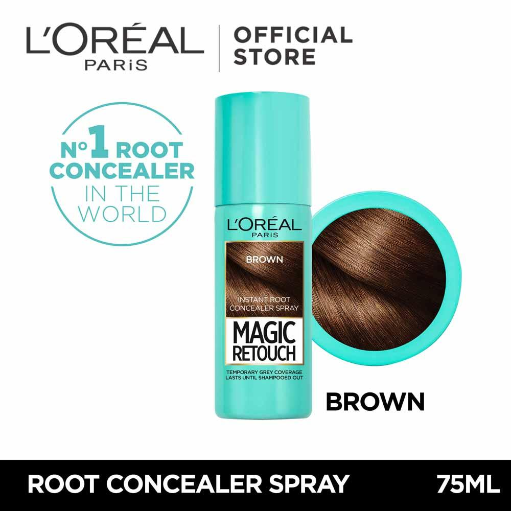 Magic Retouch Instant Root Concealer Spray 75ml - Dark Brown By Loréal Paris By Loreal Paris.