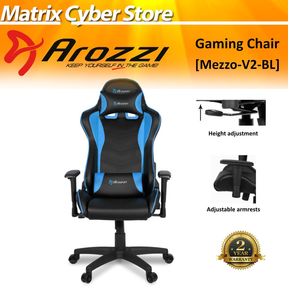 Arozzi Mezzo V2 Gaming Chair, Material Pleather [Free Delivery & Free Installation]