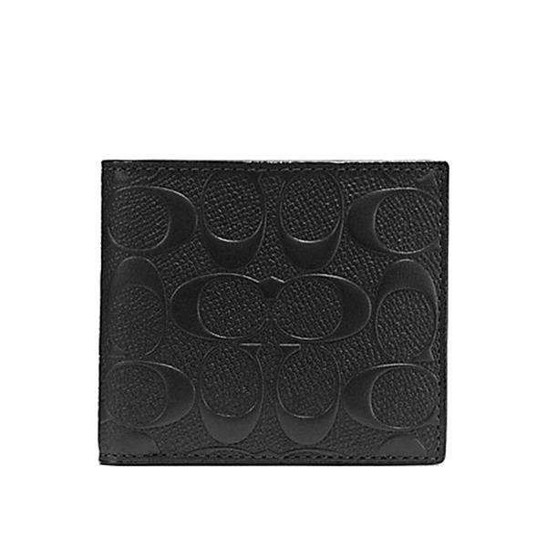 NEW ARRIVAL Coach Mens Coin Wallet In Signature Crossgrain Leather (F75363) With Coach Gift Box