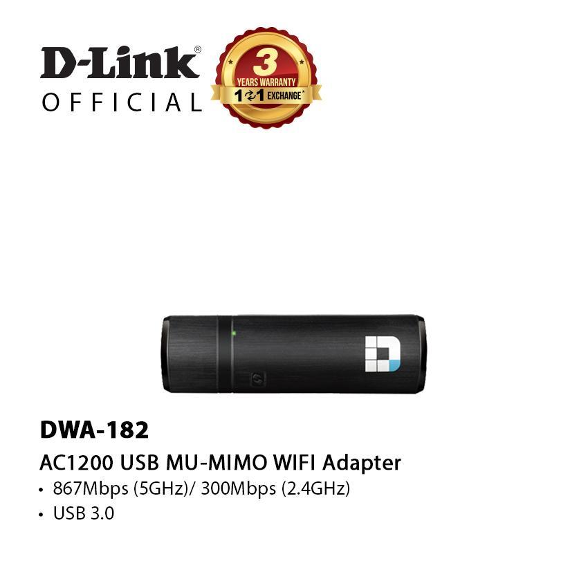 D-Link DWA-182 | Wireless AC1200 Dual Band USB Adapter