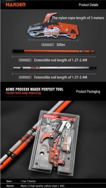 630512/3 Long Length Professional Tree Trimmer c/w orange handle