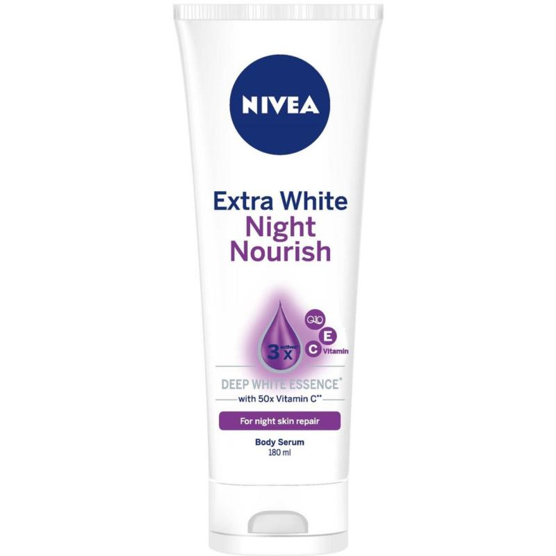 Buy NIVEA Body Care Unisex Extra White Night Nourish Serum 200ml Singapore