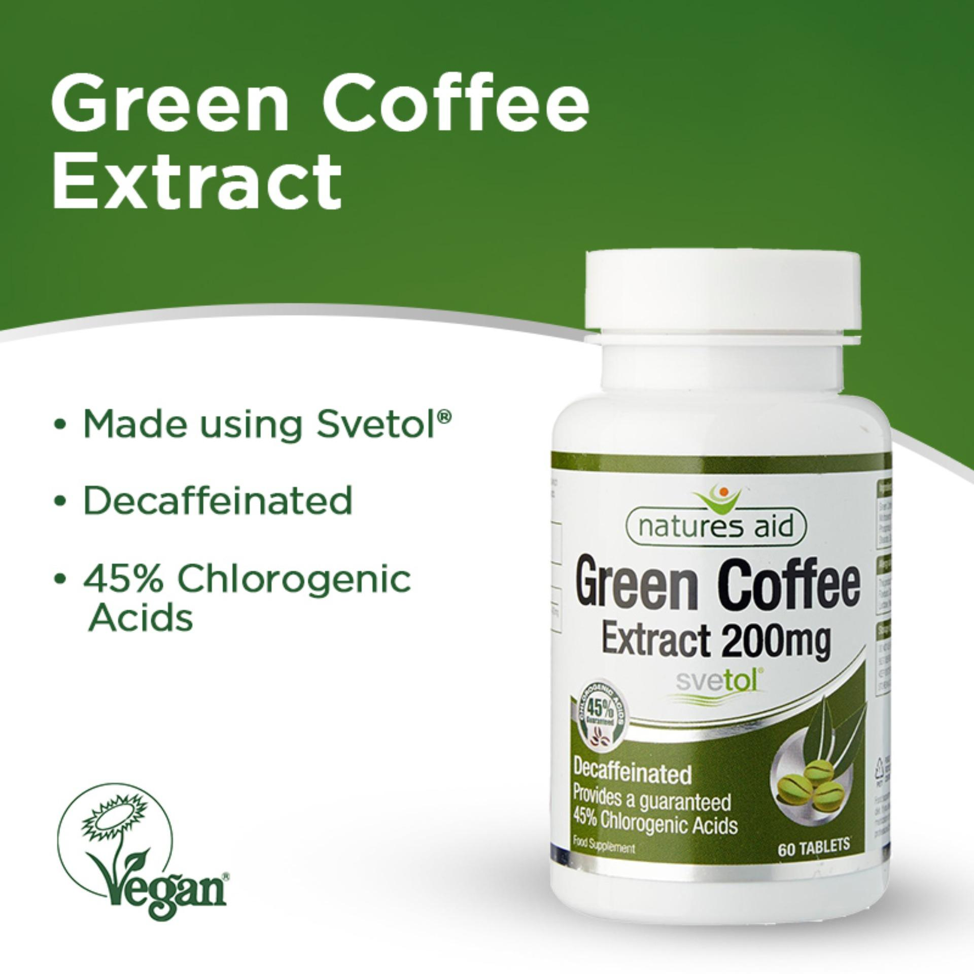 Natures Aid Green Coffee Extract (svetol) 200mg, 60s By Natures Aid.