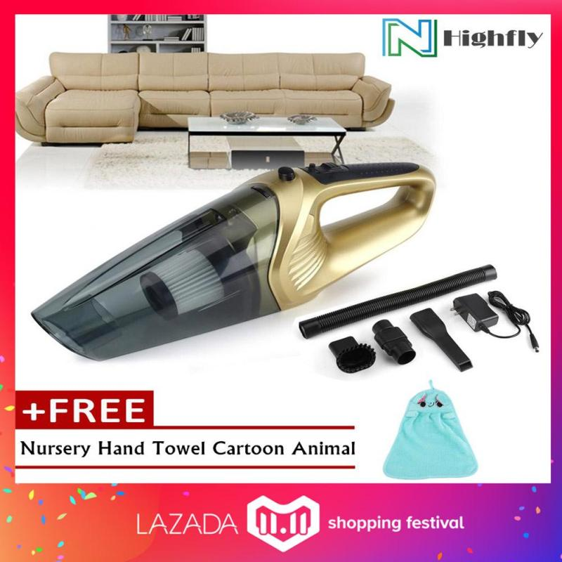 【FREE Gift】120W Cordless Rechargeable Wet Dry Poratble Handheld Car Home Vacuum Cleaner (Gold) Singapore