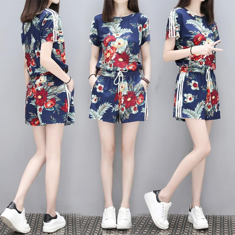 Womens Plus Size Shorts Two-Piece Set By Taobao Collection.