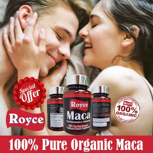 Pure Maca - Insist On Royces 100% Organic Peruvian Magic With No Fillers - 60 Capsules Ean/upc 0702754362662 By Royce Health.