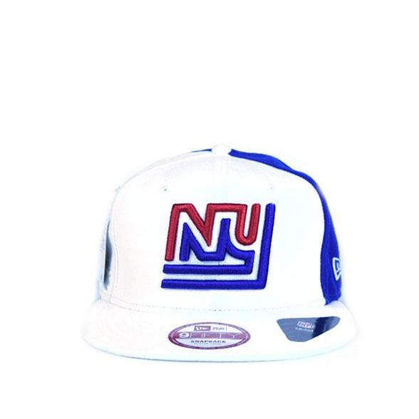 brand new 0730d 6a577 New Era NY Logo 9FIFTY White Blue Fitted cap 11348647 BB1