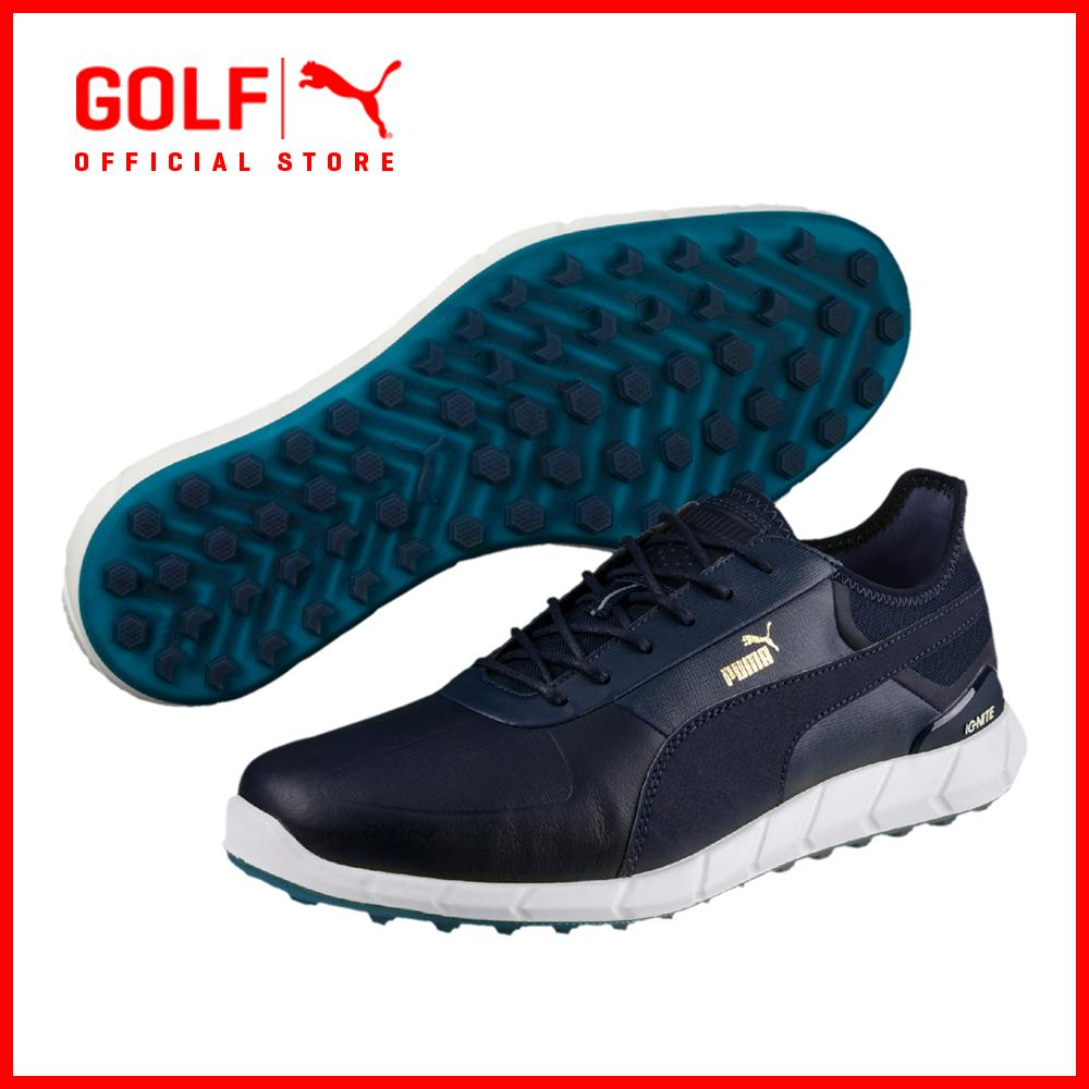 Puma Golf Men Ignite Spikeless Lux Footwear Footwear - Peacoat-Nrgy Yellow By Puma Golf Official Store.