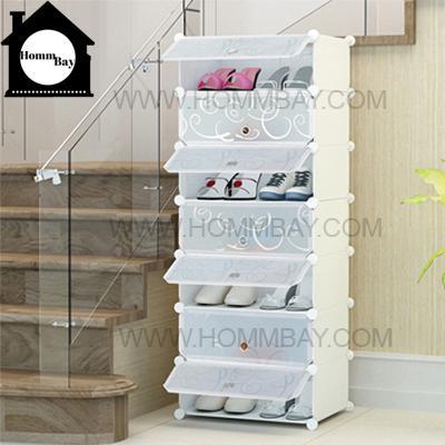 DIY Shoe Shoes Rack Storage Drawers Multi Purpose Modular Organizer Plastic Cabinets I WTWF Series I 1 Column 7 Rows