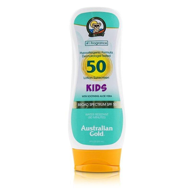 Buy Australian Gold Lotion Sunscreen Broad Spectrum SPF with Soothing Aloe Vera For Kids A 237ml Singapore