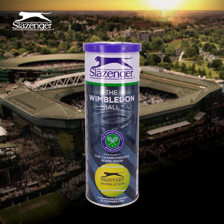 Slazenger Wimbledon Tennis Ball By Sgstringers.