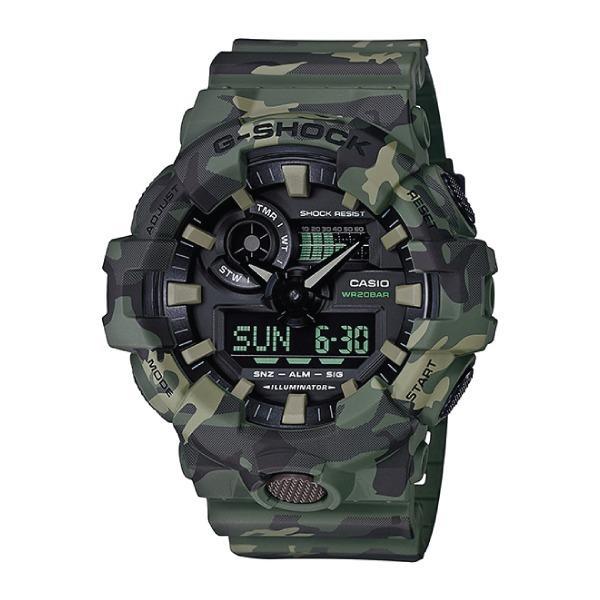 Discount Casio G Shock Special Color Model Khaki Camouflage Resin Band Watch Ga700Cm 3A Ga 700Cm 3A Casio G Shock Singapore