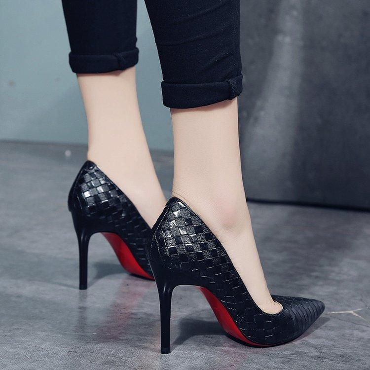 Korean Style Pointed Shallow Mouth High Heel Shoes Female Thin Heeled Shoes 2018 Spring Summer New Style Black Vocational Work Shoes Womens Shoes By Taobao Collection.