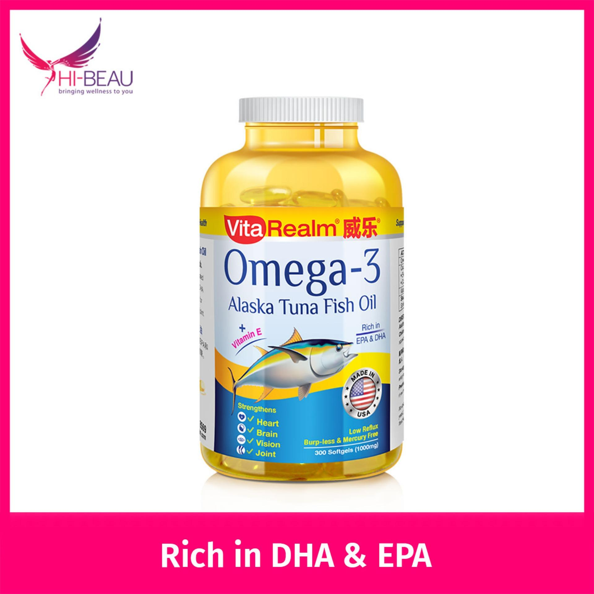 Vitarealm Omega 3 Alaska Tuna Fish Oil Shop