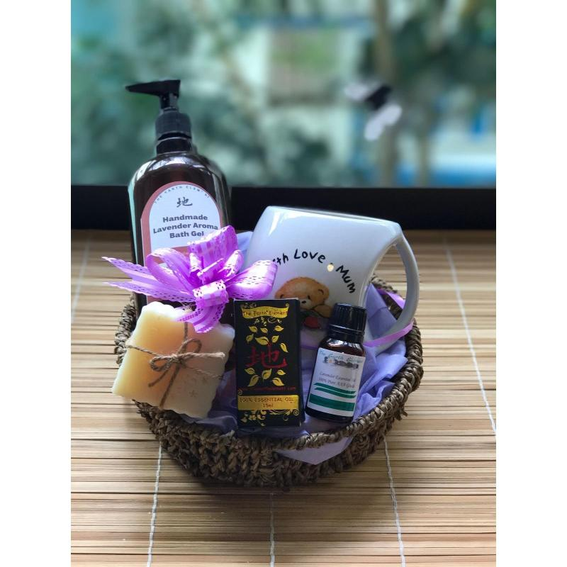 Buy Lavender Spa Gift Set (Bath Gel with Mug) ~ Mothers Day / Fathers Day / Valentines / Birthday Gifts / Hari Raya / Deepavali / Christmas Singapore