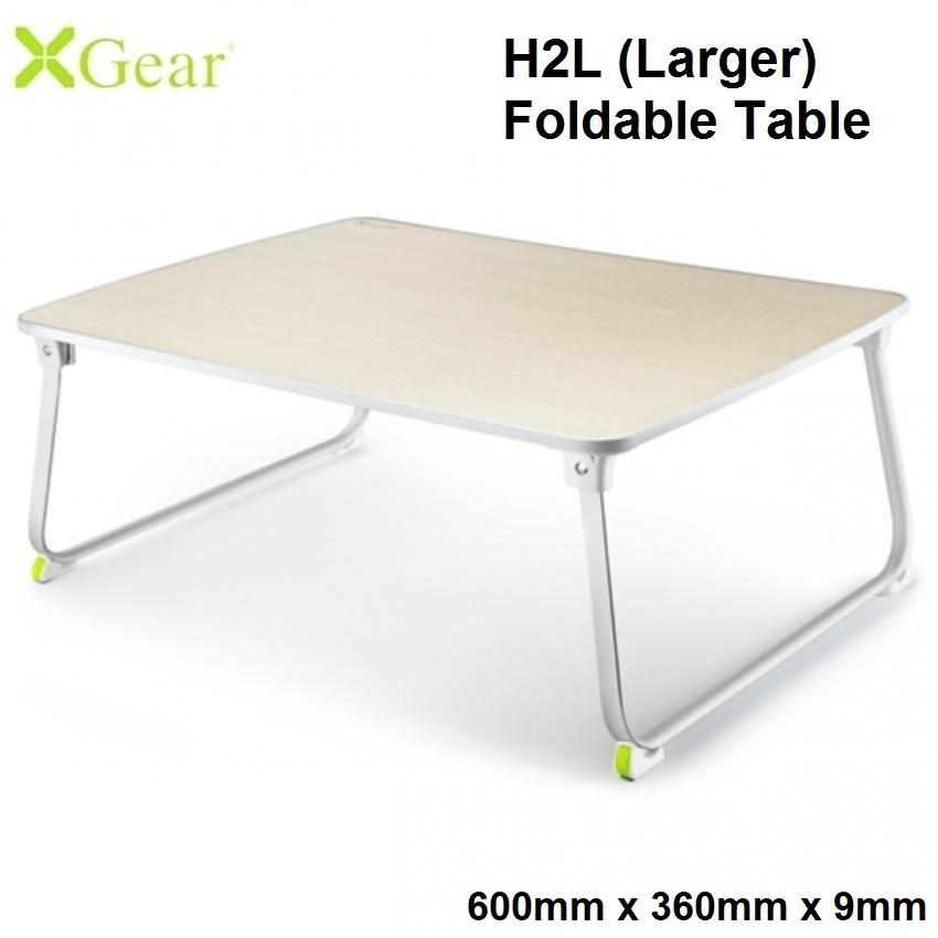 Xgear H2 Large (600 x 360 x 9mm) Foldable Laptop Table Multi-Purpose Bed Sofa Study