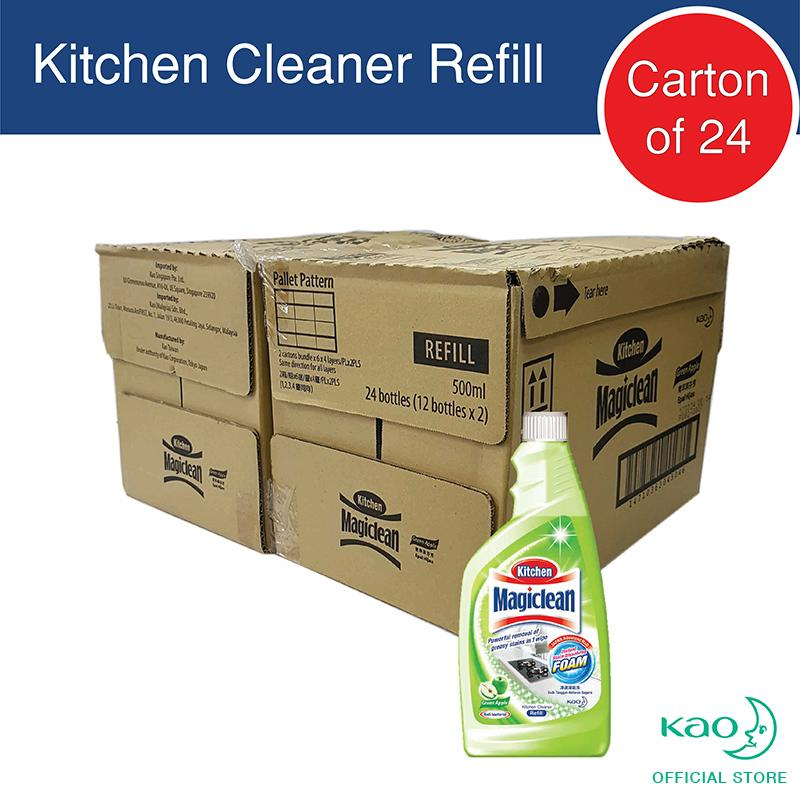 Magiclean Kitchen Refill Green Apple 500ml (carton Of 24) By Kao.