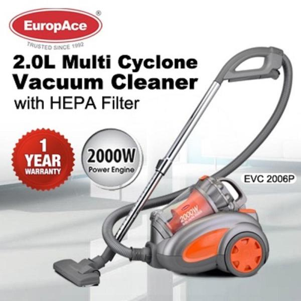 Europace EVC 2006P 2000W Multi- Cyclone Bagless Vacuum Cleaner 1 Year Warranty Singapore