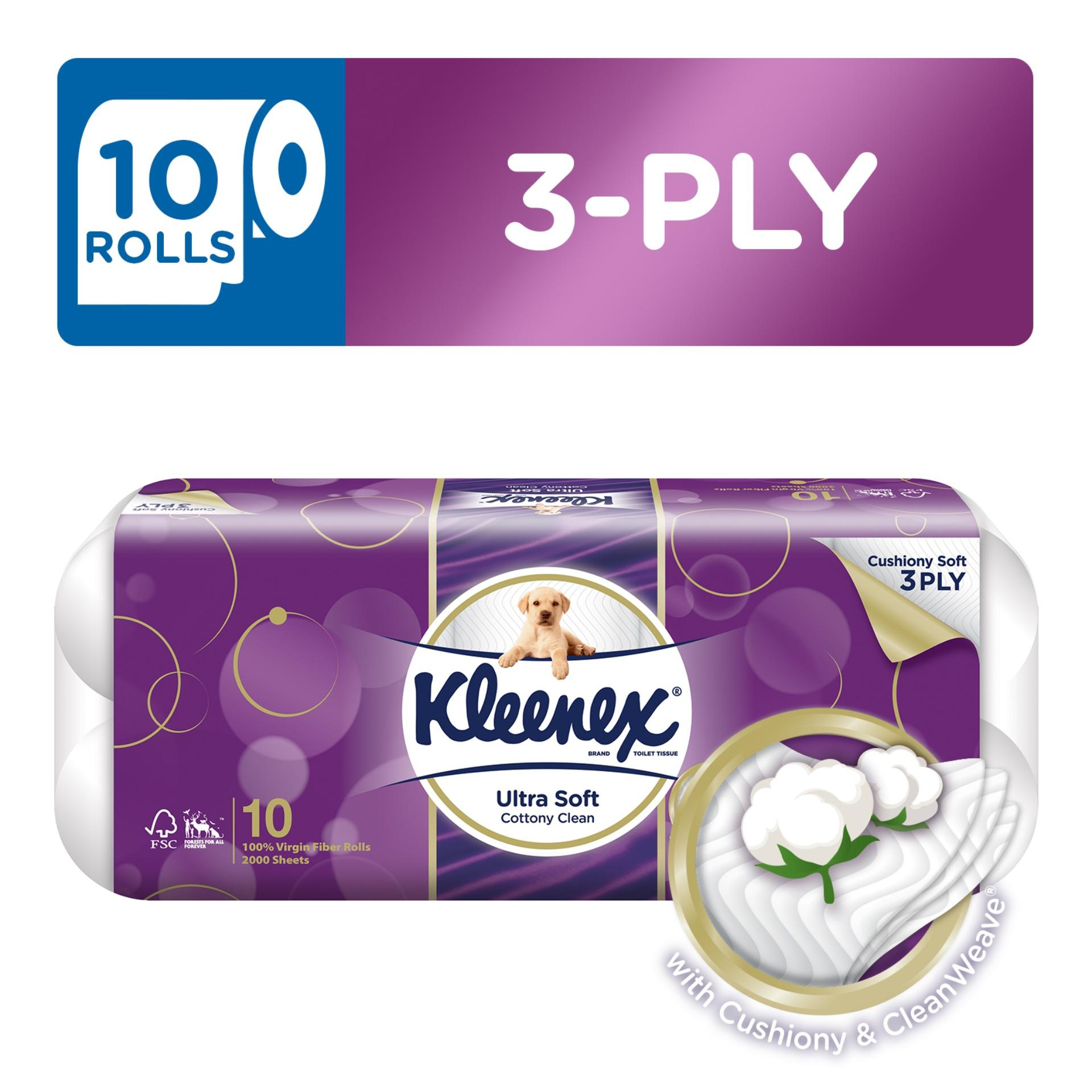 Kleenex Ultra Soft Cottony Clean Toilet Tissue 10x200sheets By Kimberly Clark Official Store.