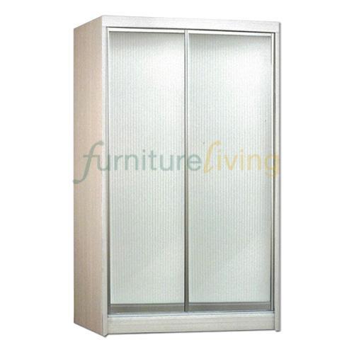 Furniture Living Sliding Door Wardrobe (Whitewash)