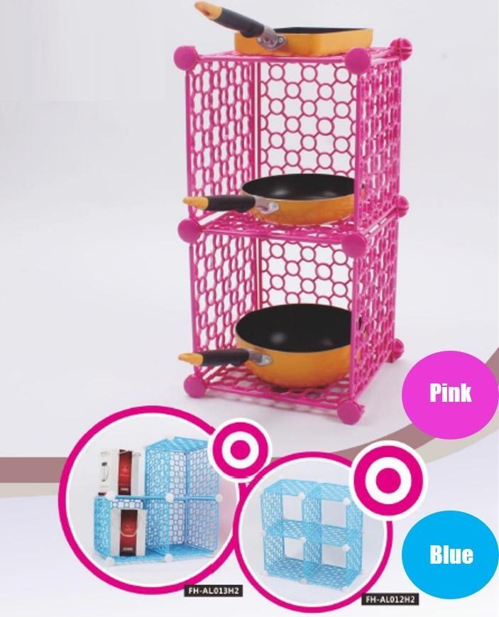 Modular DIY Shelf and Storage Rack 2x2 cubes