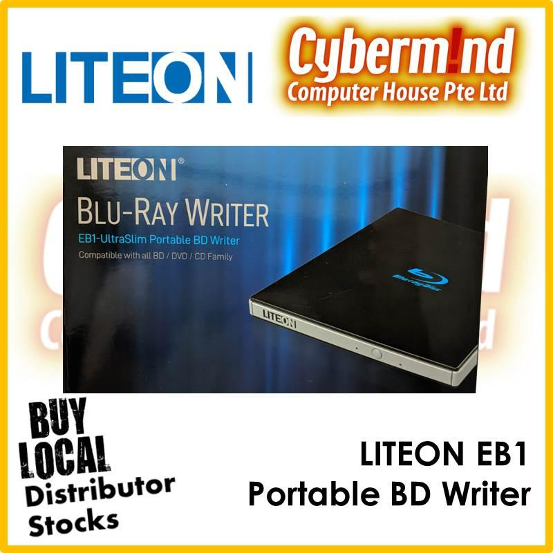 LITEON EB1 UltraSlim Portable BD Writer USB3.0 Blu-Ray / DVDRW Read/Write (Local Distributor Stocks)