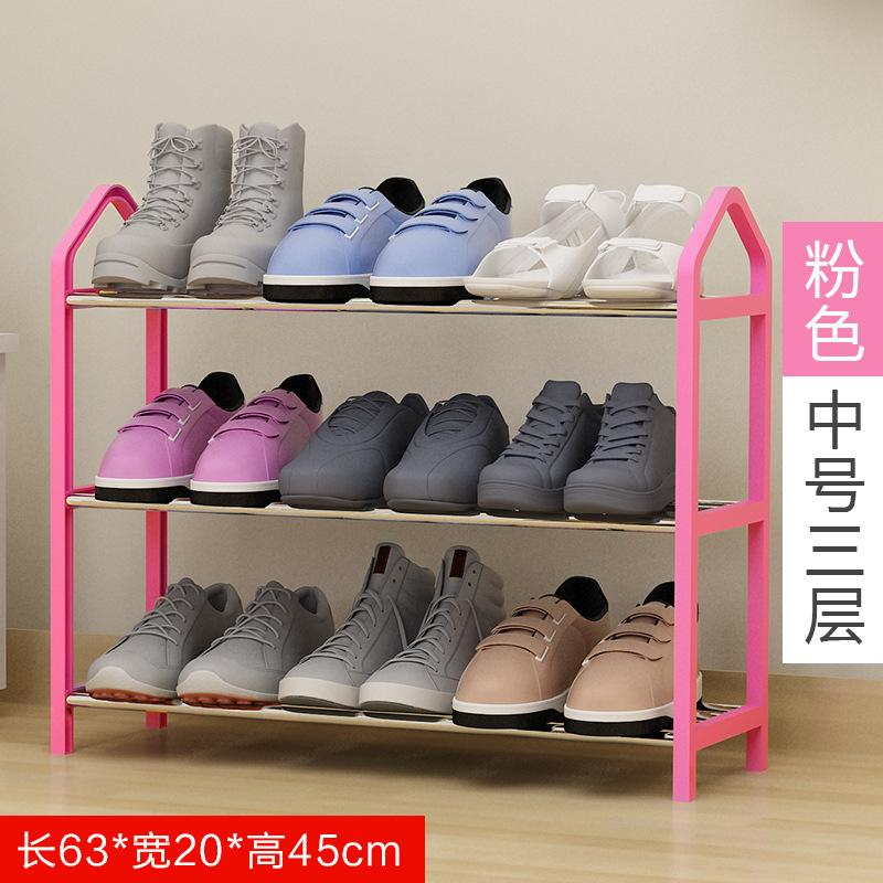 Easy Assembly Plastic Iron Multi-layer Shoe Frame