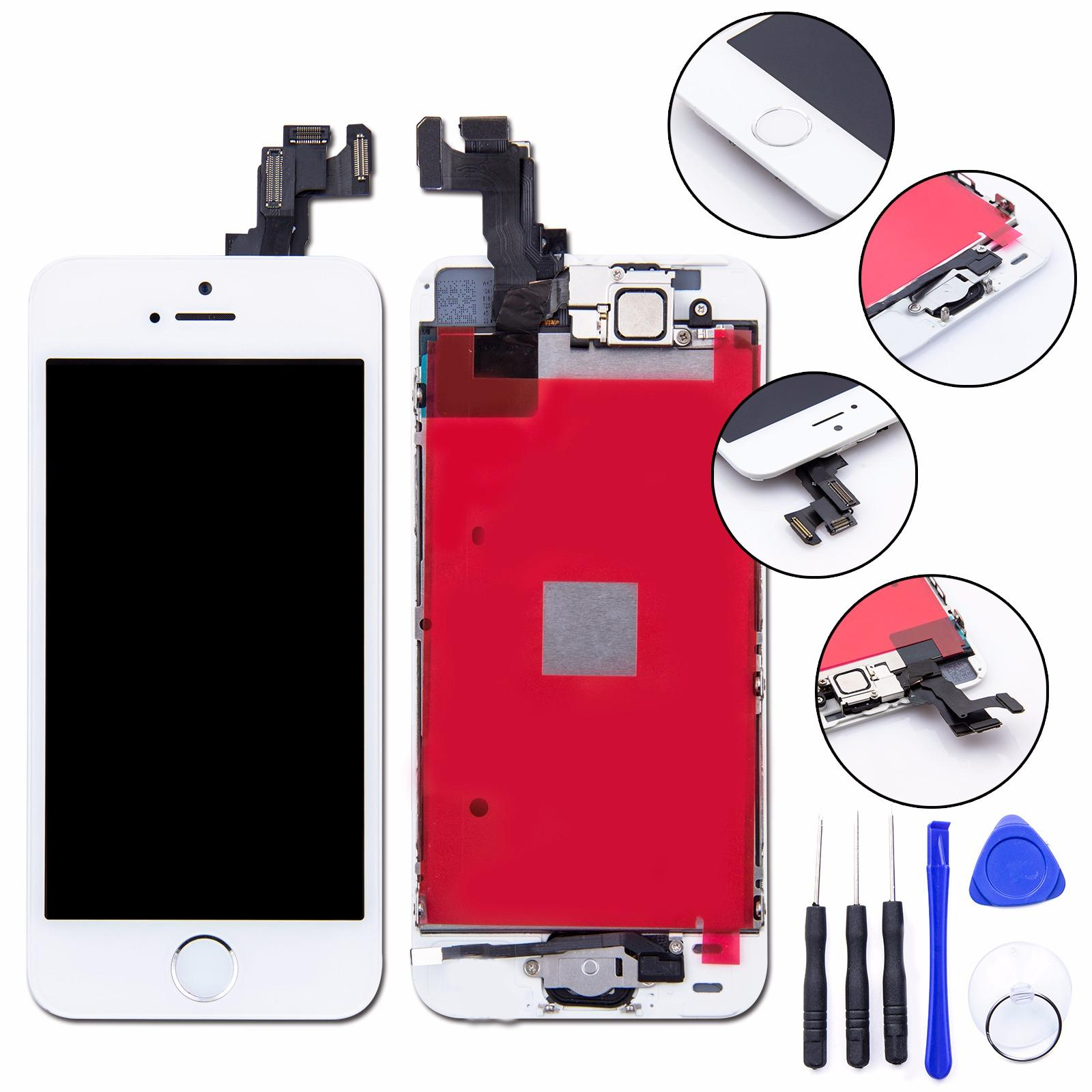 Buy Savfy Full Assembly Replacement Lcd Screen Digitizer Camera For Iphone Se Assembly W Frame Home Button Front Camera)