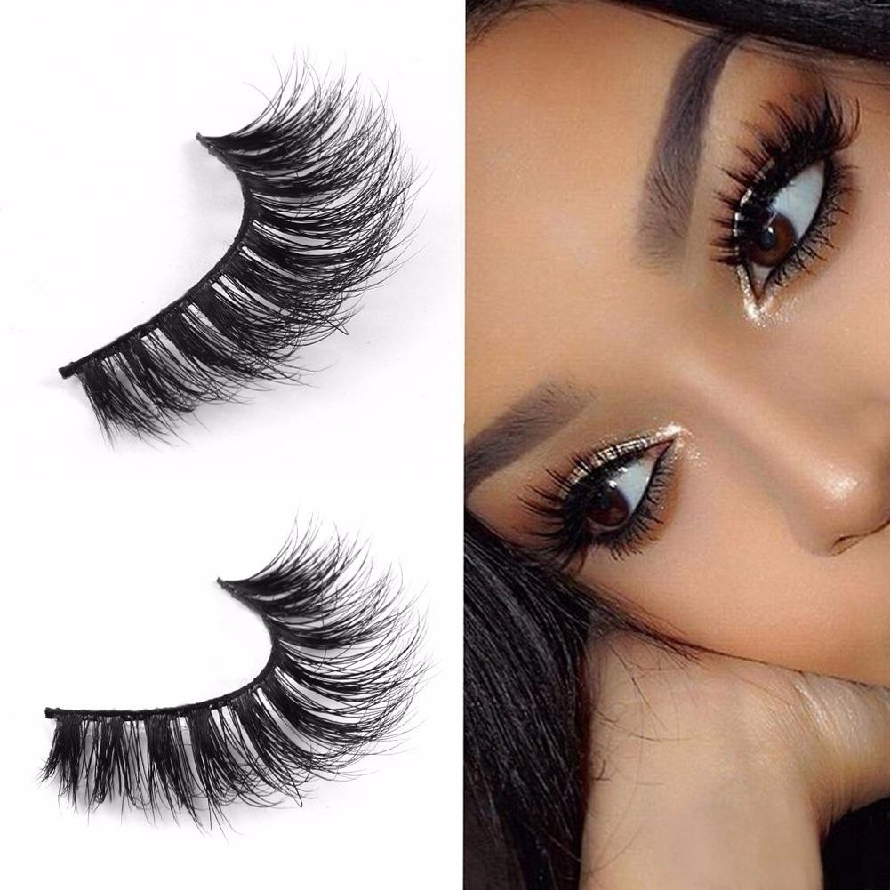 2pcs 3d Mink Eyelashes Handmade Natural False Long Eye Lash Reusable Sg Stock By Wripples.