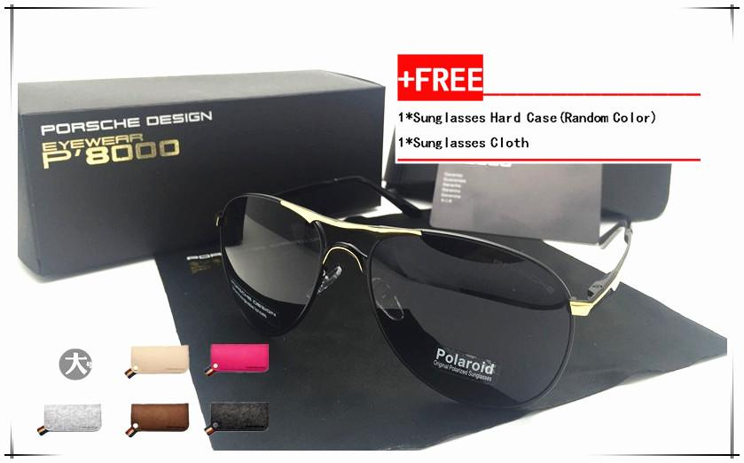 f40b8c07ee5 Porsche 8722 Men s Polarizer Driving Glasses Anti Ultraviolet Sunglasses  (silver)